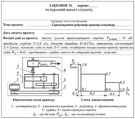 Заказ курсового проекта по деталям машин для ДонНТУ