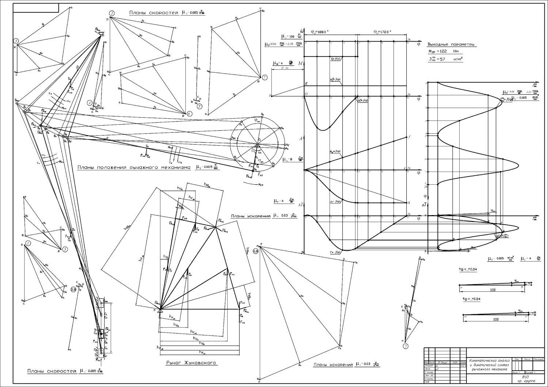 Теория механизмов и машин курсовая на заказ контрольные  теория машин и механизмов ДГМА анализ и синтез рычажного механизма normal